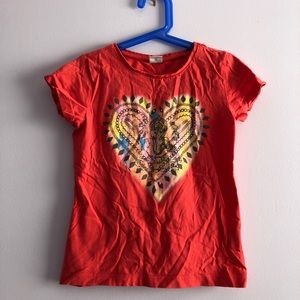 S. Oliver red heart Hindu print t-shirt